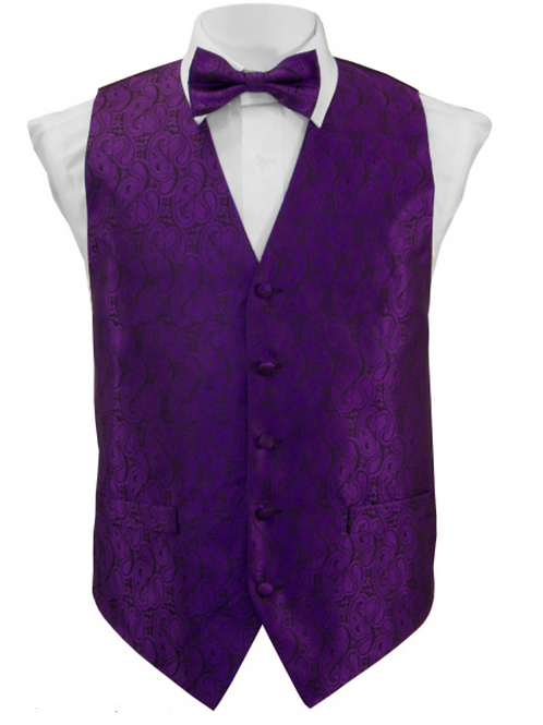 Vest Set Paisley - PURPLE
