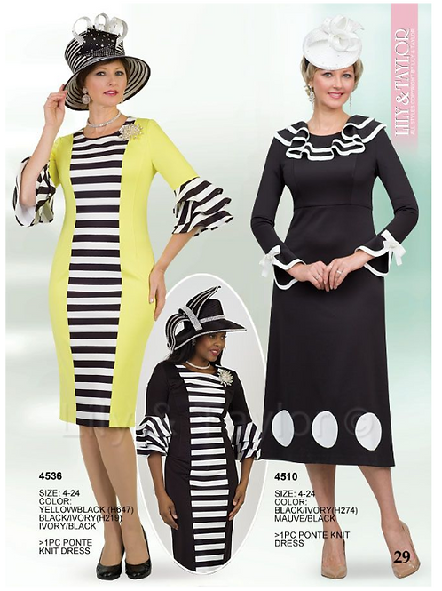 Lily & Taylor 1pc Dress #4536 and #4510
