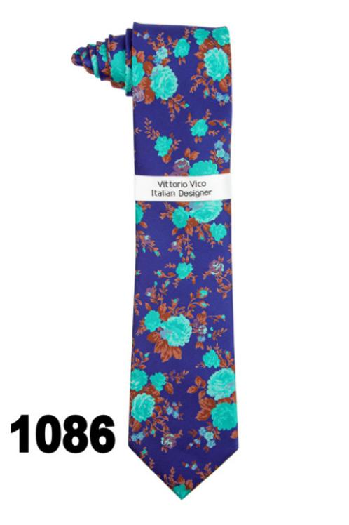 DESIGNER TIE & HANKY - 1086