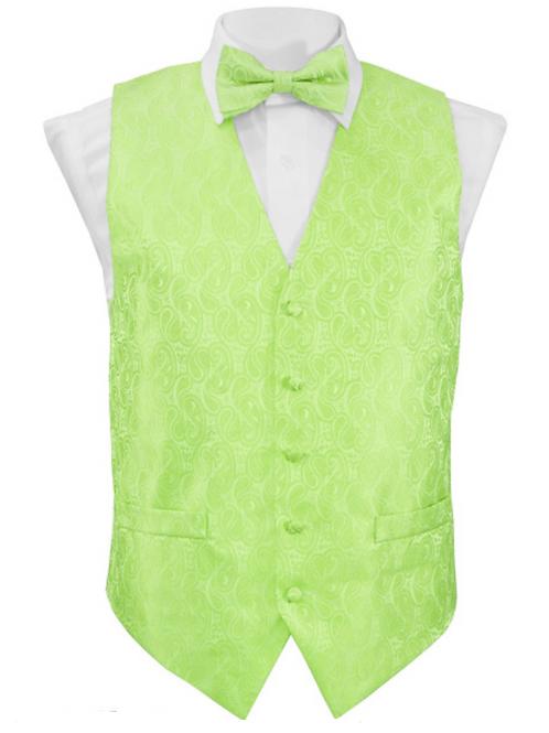 Vest Set Paisley - LIME