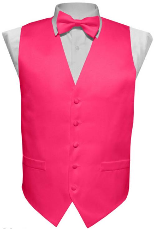 Vest Set Plain - HOT PINK