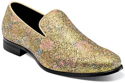 Stacy Adams - Swank Glitter Floral Slip-On