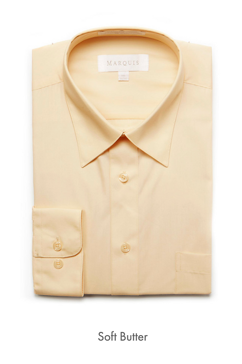 Marquis Solid Classic Fit Dress Shirt - SOFT BUTTER