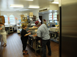 Behind the scenes in the kitchen