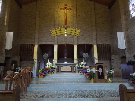 Church Altar at Easter