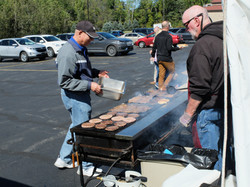 Burgers and hotdogs courtesy of Men's Club