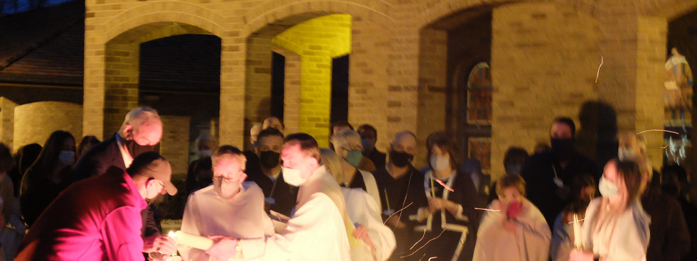 Lighting the Paschal Candle