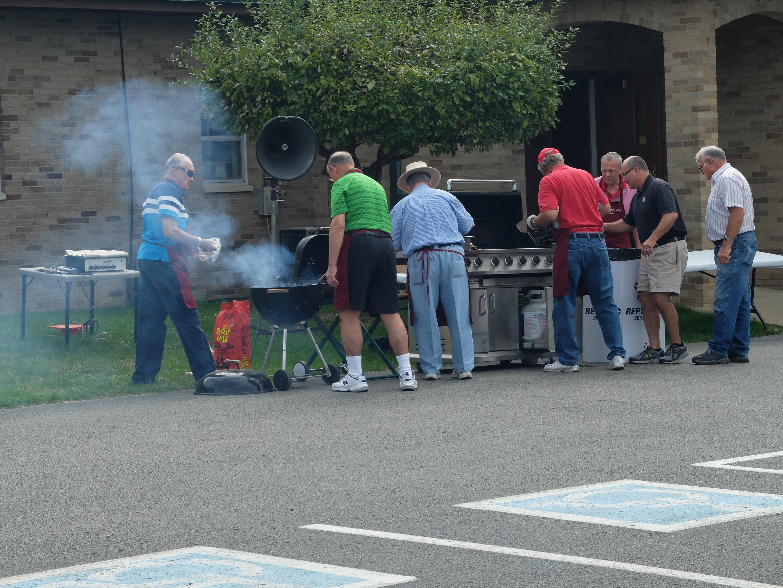 Men's Club Chefs at work.