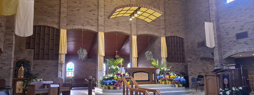Our Beautiful Easter Altar