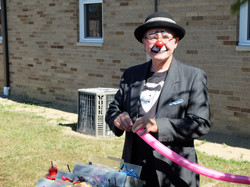 Jocko the Clown delighted the kids.