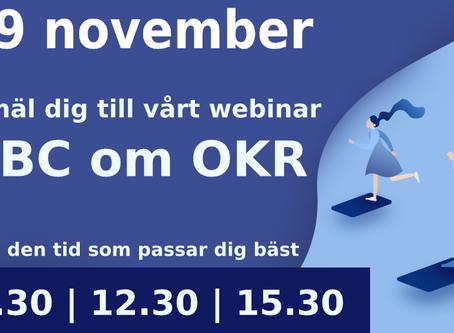 ABC om OKR - Anmäl dig till webinar 19 november