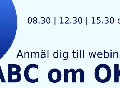 ABC om OKR - Anmäl dig till webinar 24 oktober
