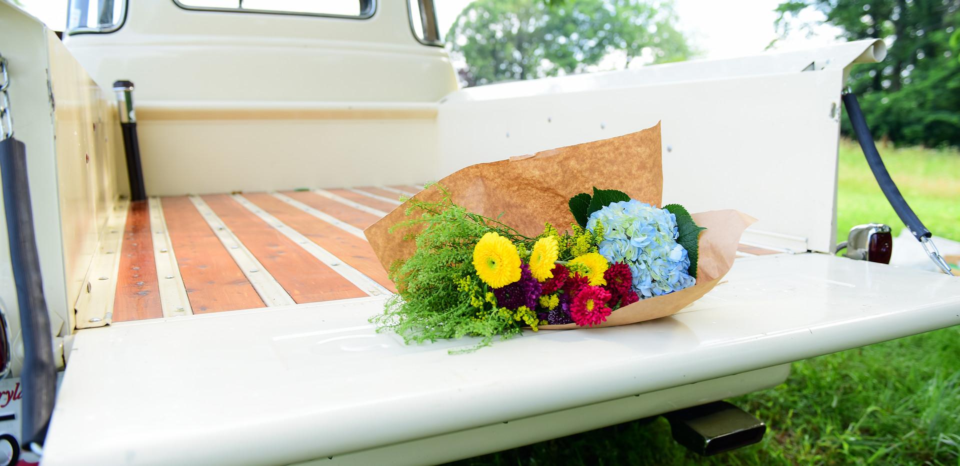 Flowers on Truck