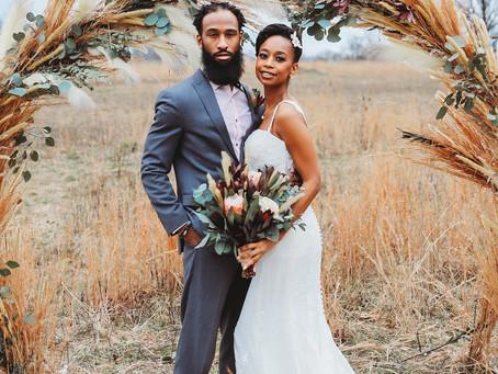 A Boho Bride + A Bearded Groom + A Stunning Arch...