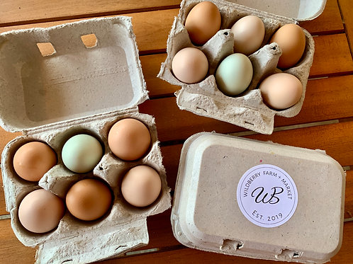 Half Dozen Rainbow Eggs