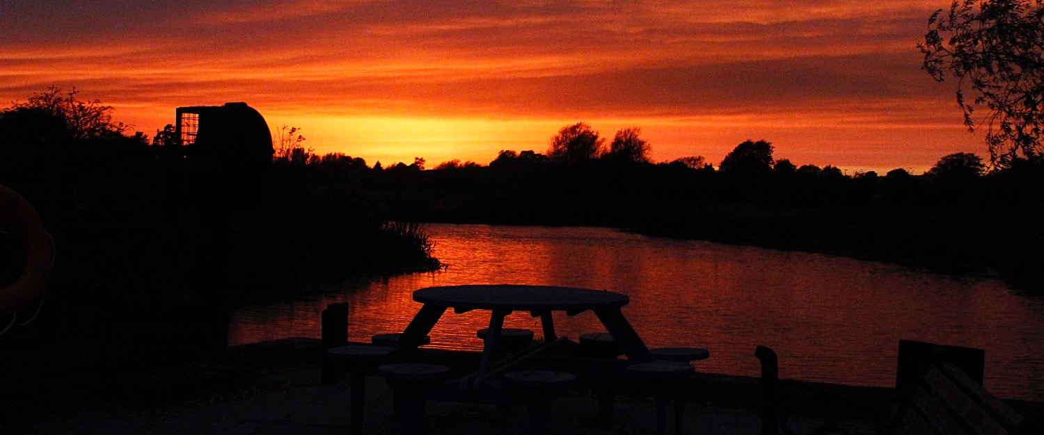 Waveney River by sunset