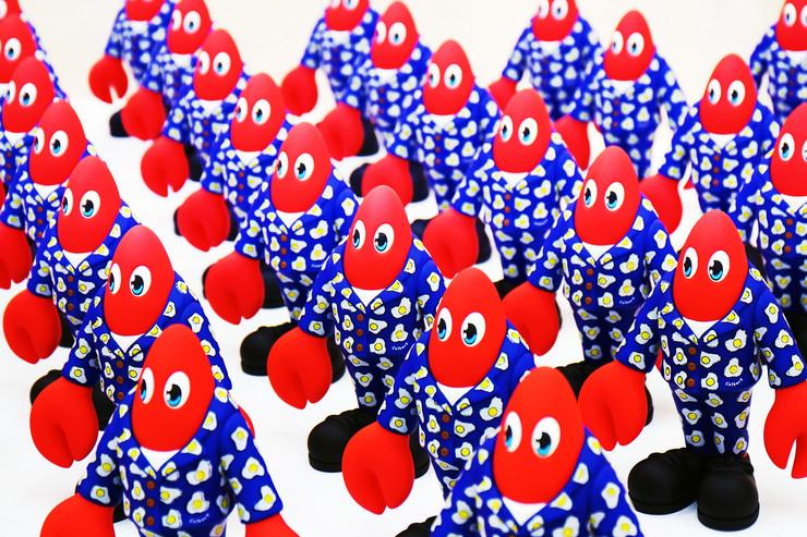 Lobster Toy Army at Saatchi Gallery.jpg
