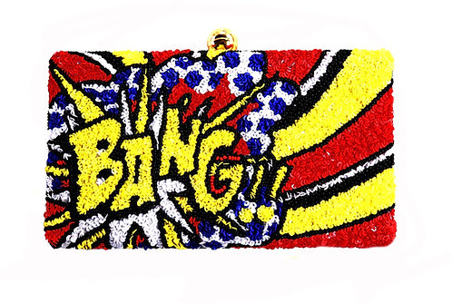 Bang Sequin Clutch