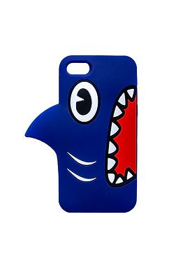 Blue Shark Head Phone Case