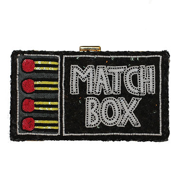 Match Box Sequin Clutch