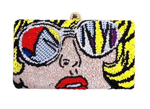 Pop Sunglasses Sequin Clutch