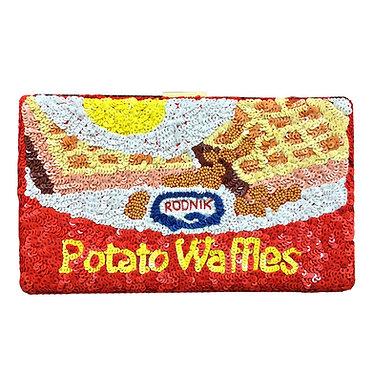Potato Waffles Sequin Clutch