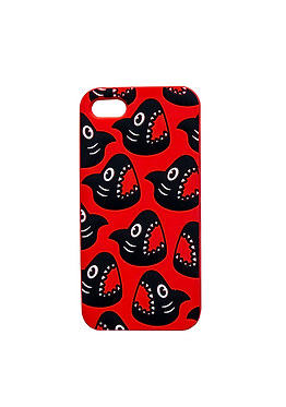 Red Shark Head Repeat Phone Case