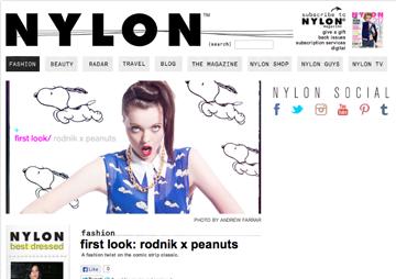 Nylon Rodink x Peanuts Press