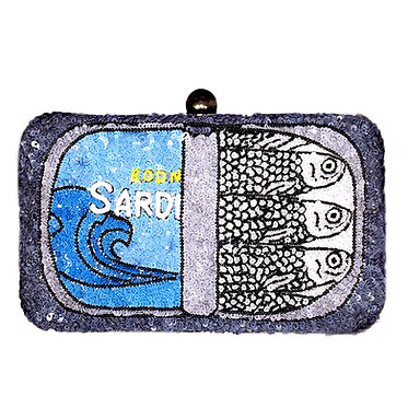 Sardines Sequin Clutch