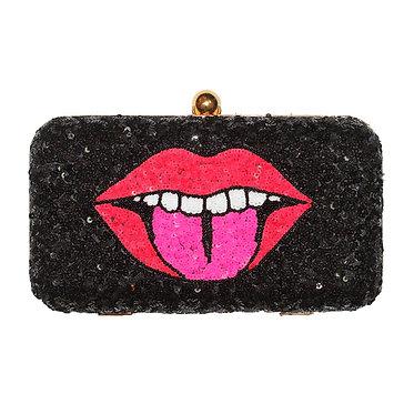 Lips Sequin Clutch