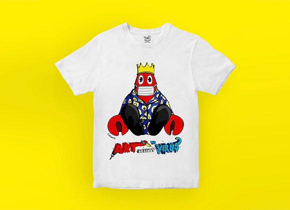 Art Against The Virus T-shirt - Lobster with Logo