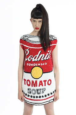 Soup Can Sequin Dress