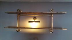 Glamorous gold shelving unit