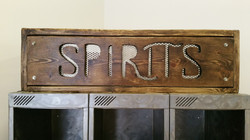 Light up spirit cabinet