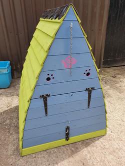 outdoor dog hut