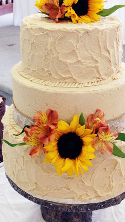 cropped sunflower cake