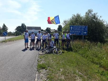Молдавские велосипедисты прибыли в Ювяскюля, Финляндия