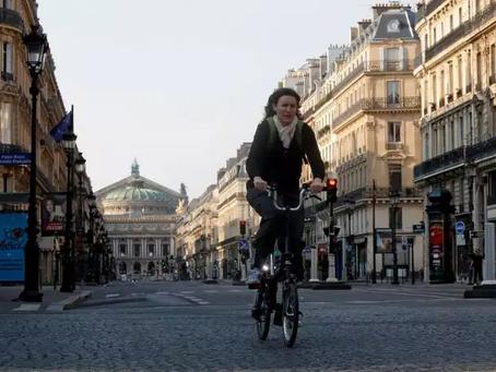 Франция рекомендует людям передвигаться на велосипедах