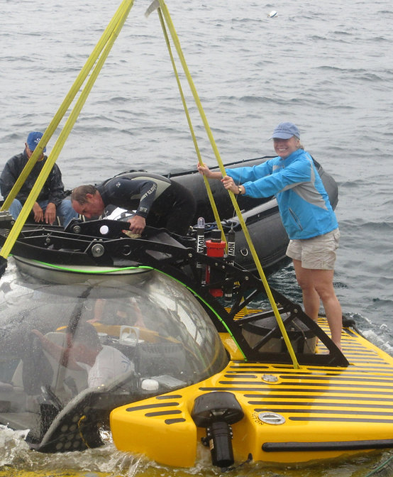 Piloting a submarine in the Caribbean