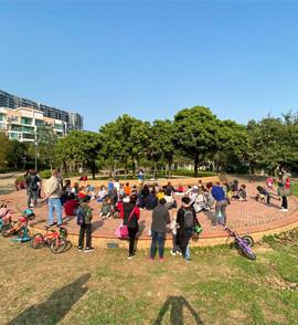 Public show in Siena park