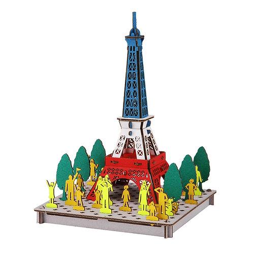 PUSU PUSU 3D -Paris Tower Tricolore
