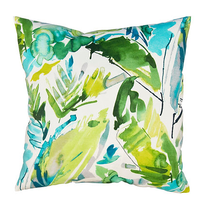 Cushion Cover (Aqua Jungle)