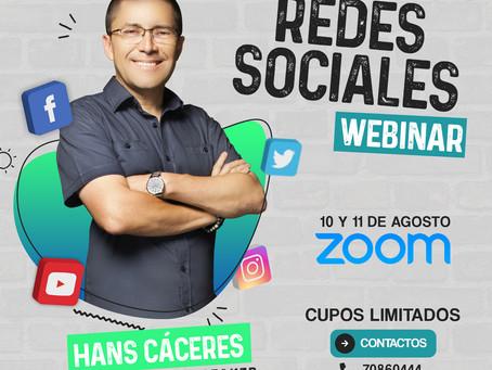 Webinar de Televisión En Tiempos De Redes Sociales  a cargo de Hans Cáceres