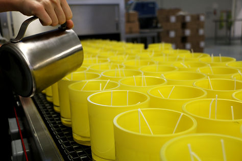 Manufacture - All our candles are hand poured in our on-site factories