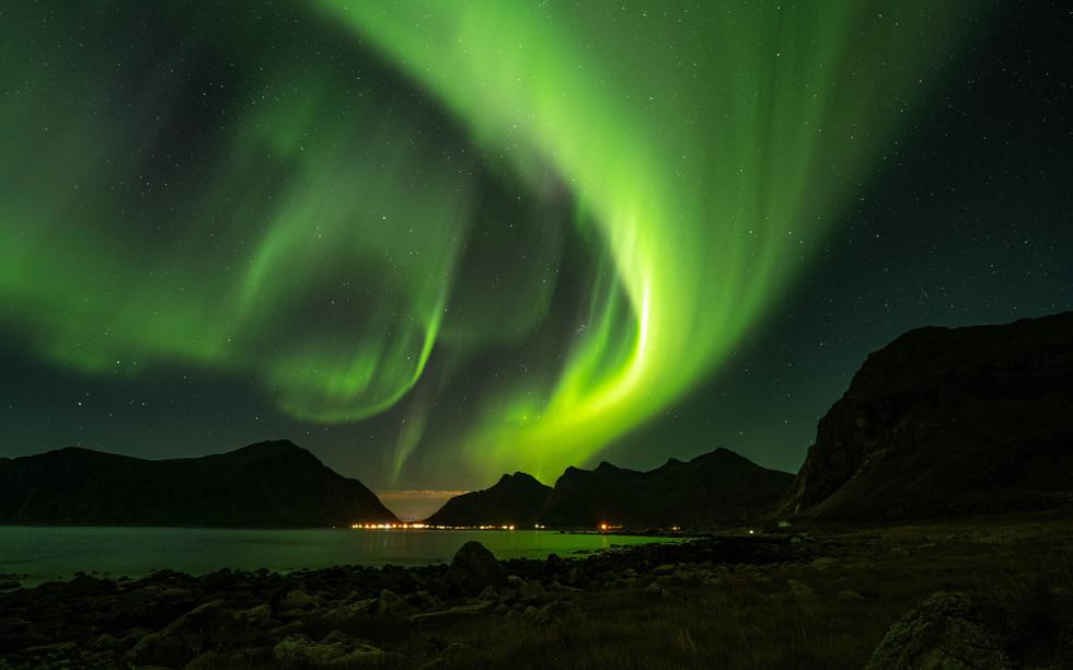 Nordlichter Lofoten, Norwegen