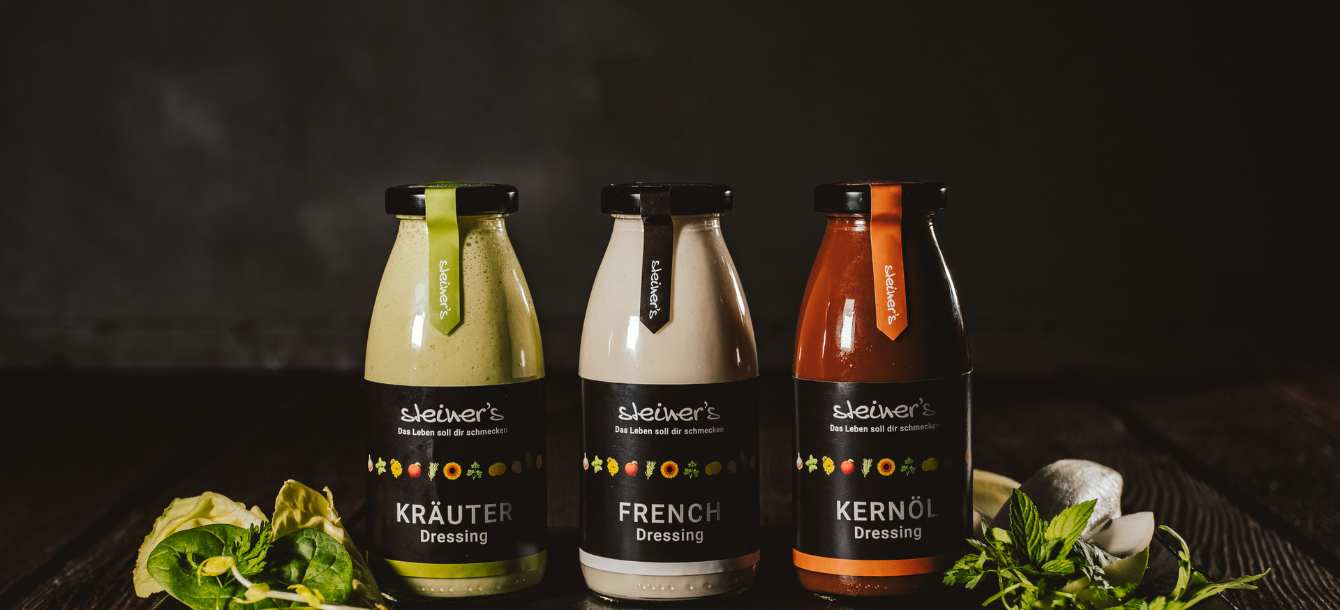 Steiners Salatdrassing - Produktfotos