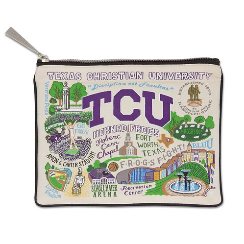 TEXAS CHRISTIAN UNIVERSITY ZIP POUCH