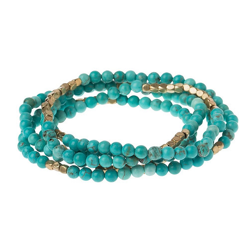 Turquoise/Gold - Stone of the Sky Bracelet-Necklace