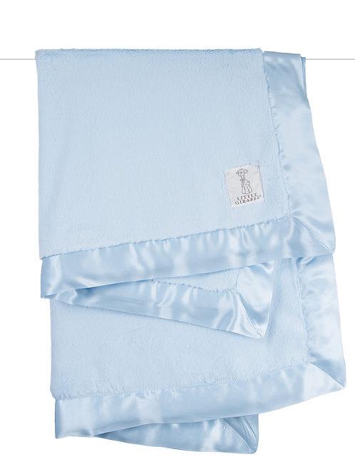 Little Giraffe Luxe™ Solid Blanket in a Box Blue
