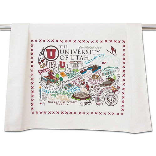 UNIV OF UTAH DISH TOWEL